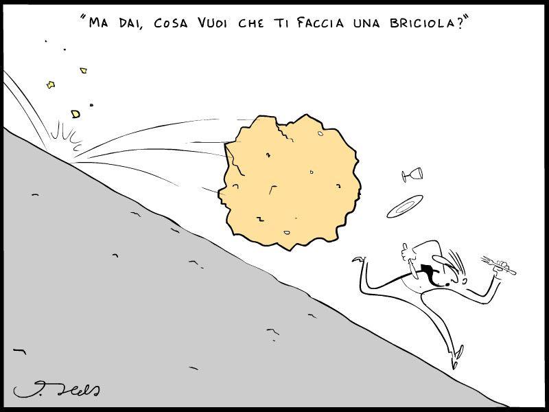 vignetta sul glutine e la briciola di pane